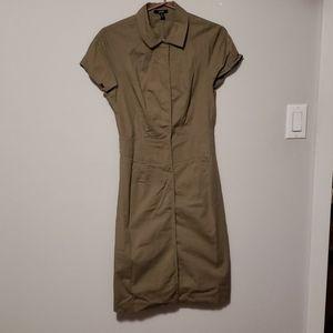 Tan collared dress sz 3/4